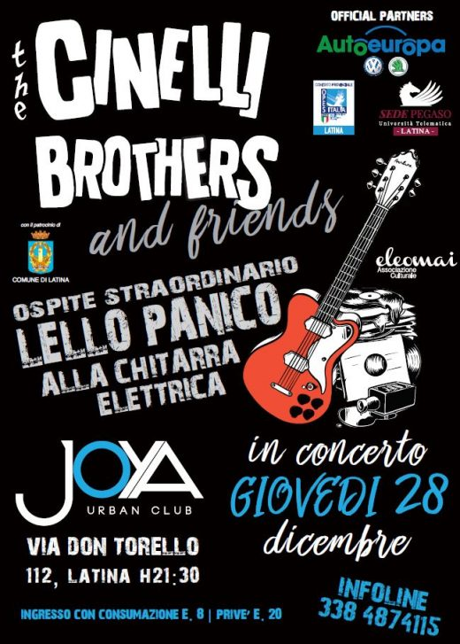 Locandina evento The Cinelli Brothers and friends
