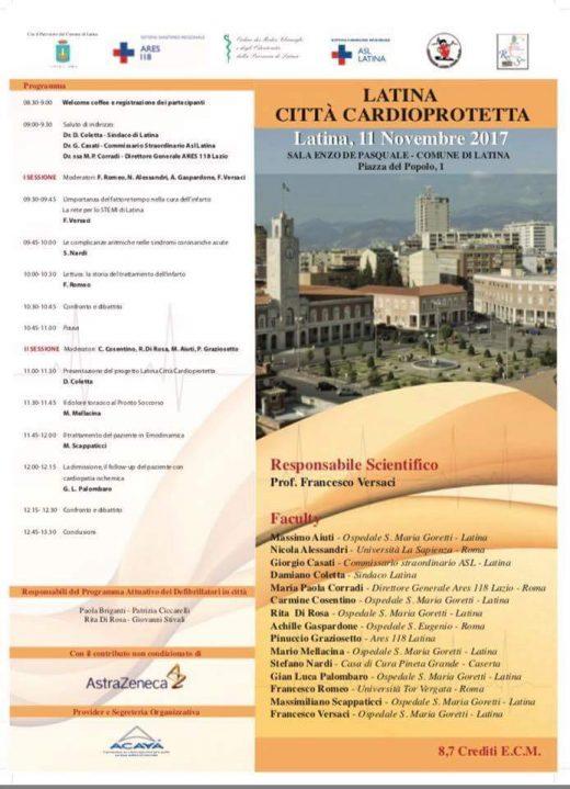 latina città cardioprotetta