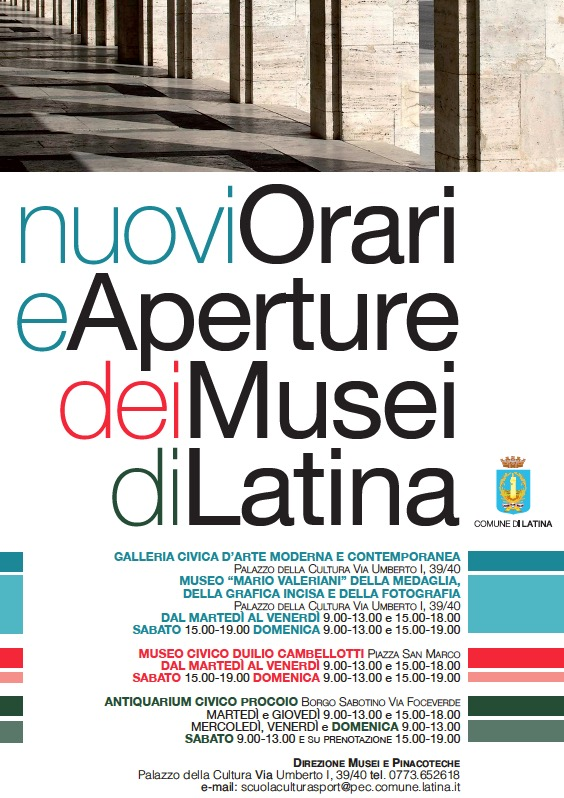 nuovi orari musei latina