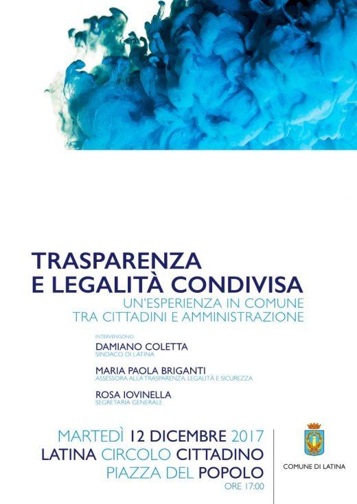 Trasparenza e legalità condivisa