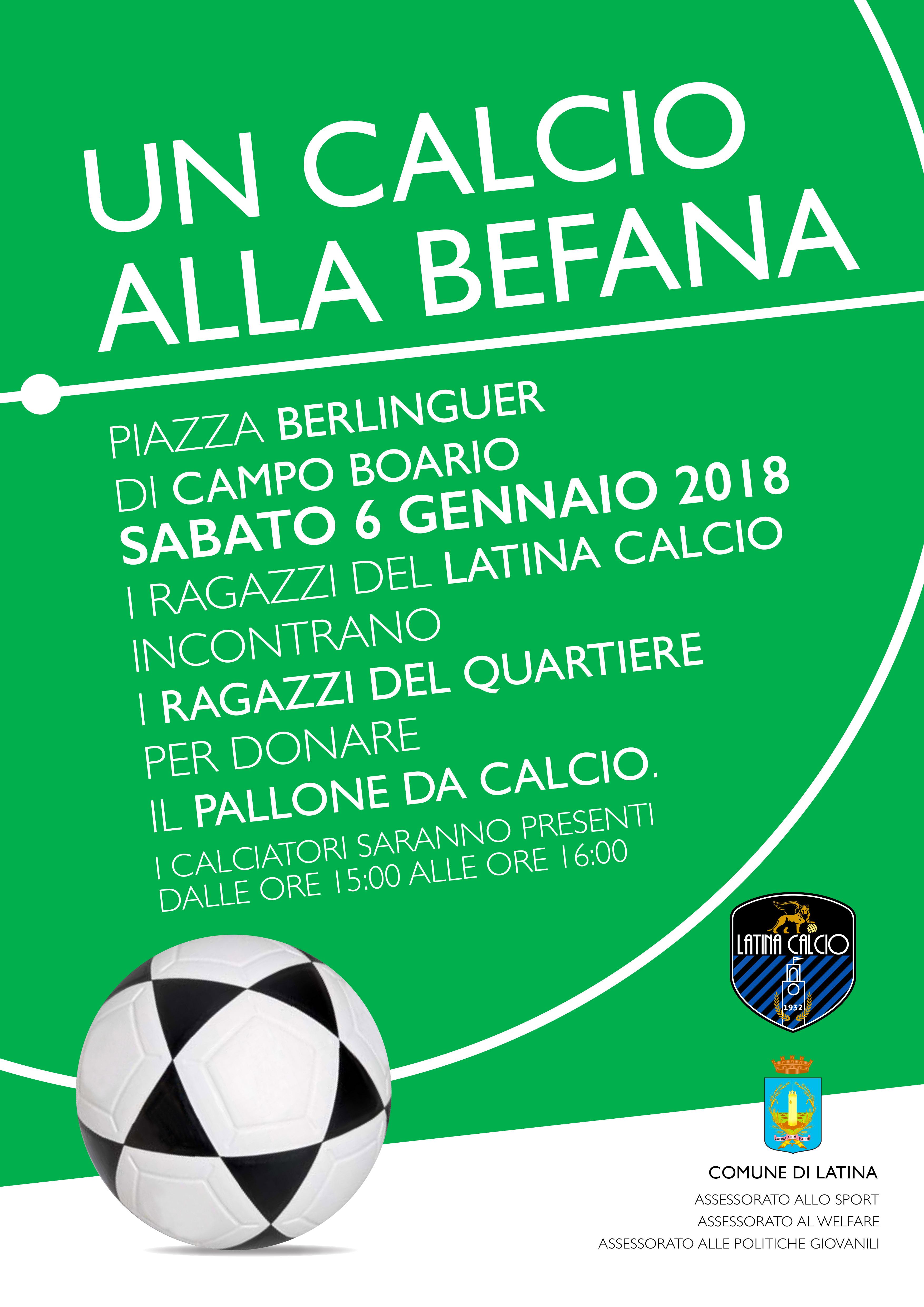 04012018 Un Calcio Alla Befana I Giocatori Del Latina Calcio