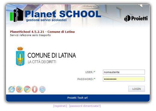 screenshot pagina iniziale apservice